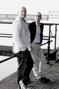 Marco Wientjes en Jan-Boudewijn Bunt, oprichters en directie van WEBmedium Internet Services in Deventer